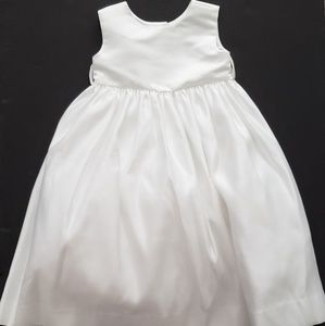 Us Angels Girls Toddler Dress White Satin NWOT